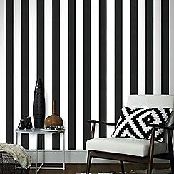 Superfresco Easy - Black & White Lynn Stripe Wallpaper