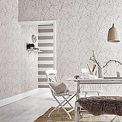 Superfresco Easy - Stone & Cream Innocence Twig Wallpaper