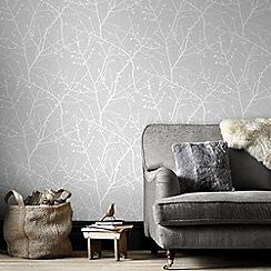 Superfresco Easy - Grey Innocence Twig Wallpaper