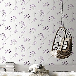 Superfresco Easy - White & Lavender Radiance Delicate Floral Wallpaper