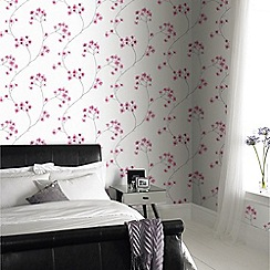 Superfresco Easy - White & Pink Radiance Delicate Floral Wallpaper