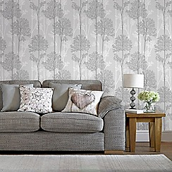 Superfresco Easy - Grey Eternal Forest Wallpaper