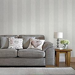 Graham & Brown - Light Grey Artisan Stripe Wallpaper