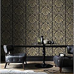 Graham & Brown - Gold Gloriana Damask Wallpaper
