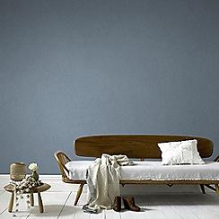 Graham & Brown - Blue Tranquil Plain Wallpaper