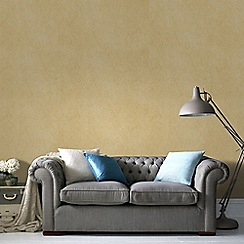 Graham & Brown - Gold Tranquil Plain Wallpaper