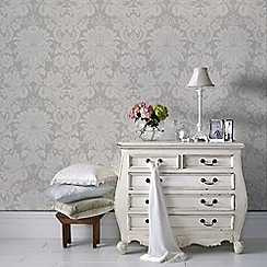 Superfresco Easy - Grey Venetian Damask Paste The Wall Wallpaper