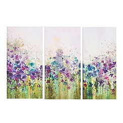 Graham & Brown - Set of three Watercolour meadow wall art