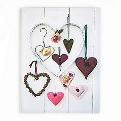 Graham & Brown - Printed canvas hearts compendium wall art