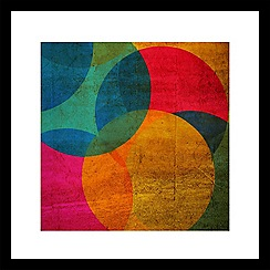 Graham & Brown - Yellow neon circle wall art