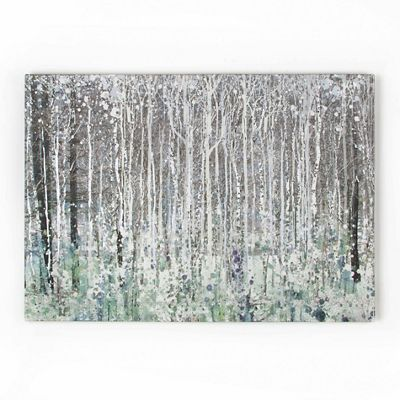 Art For The Home Grey Watercolour Woods Canvas Wallart