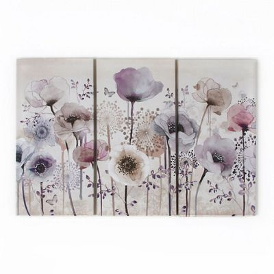 Graham brown purple classic poppy trio canvas wallart