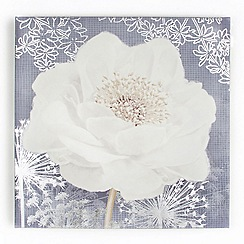 Graham & Brown - White Lilac Bloom Printed Canvas