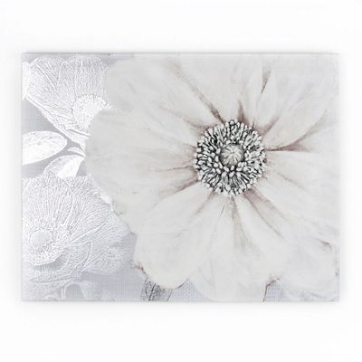 Graham brown white grey bloom printed canvas