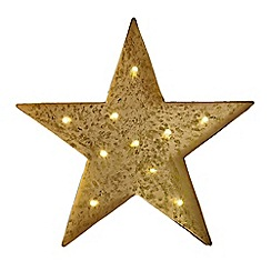 Art for the Home - Yellow lit star metal art