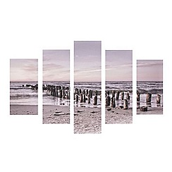 Graham & Brown - Tranquil Seascape Seaside Set of 5 Photographic Printed Canvas Wall Art