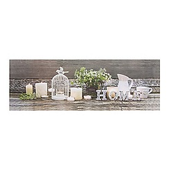 Graham & Brown - Home Led Light Up Heritage Candles Printed Canvas Wall Art