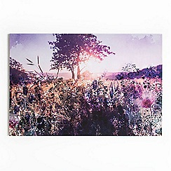 Graham & Brown - Layered Spring Meadow Landscape Printed Canvas Wall Art