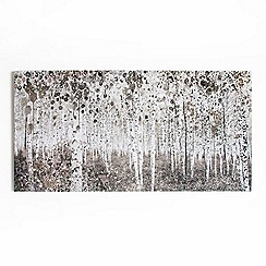 Art for the Home - Neutral watercolour woods printed canvas wall art