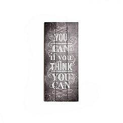 Graham & Brown - You Can Inspirational Quote Wooden Print Wall Art