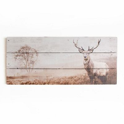 Graham brown animal stag wooden print wall art debenhams