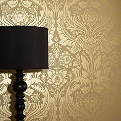 Graham & Brown - Mustard/gold Desire wallpaper