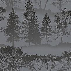Graham & Brown - Charcoal Mirage wallpaper
