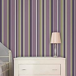 Fresco - Amethyst Rico Stripe Wallpaper