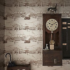 Boutique - Gold northern toile wallpaper