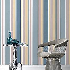 Fresco - Teal Rico Stripe Wallpaper