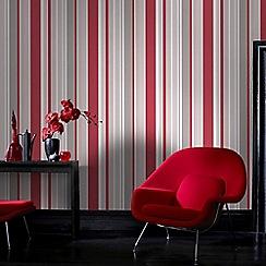 Fresco - Red Rico Stripe Wallpaper