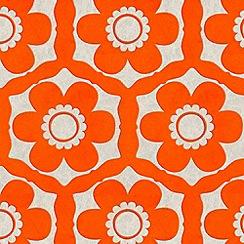 Barbara Hulanicki - Tangerine Dream Funky Flora Wallpaper