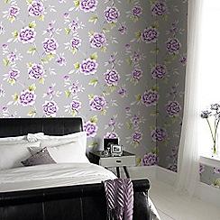 Fresco - Purple Chinese Blossom Floral Wallpaper