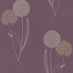 Graham & Brown - Damson Alium wallpaper