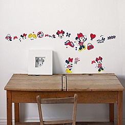 Disney - Red Minnie Mouse Small Wall Stickers