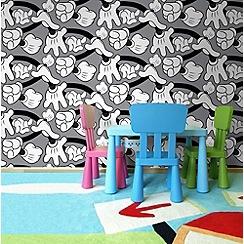 Disney - Grey Mickey Mouse Handshake Wallpaper