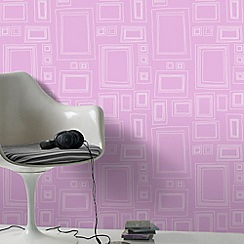 Graham & Brown - Pink frames wallpaper