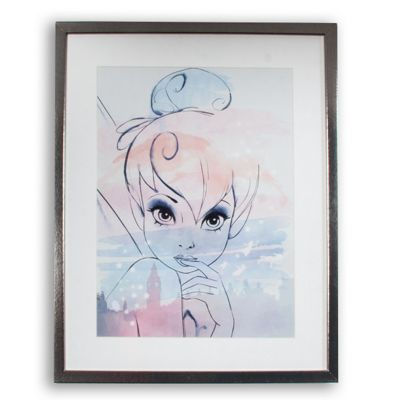 Disney pastel tinkabel watercolour framed print debenhams