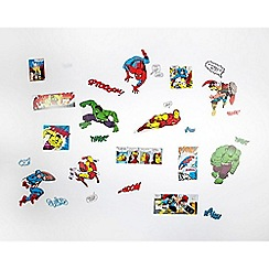 Marvel - Multicoloured Marvel Comics Coloured Paper Stickers