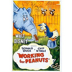 Disney - Donald Working for Peanuts Canvas