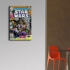 Star Wars - Blue Han Solo & Chewbacca Comic Canvas