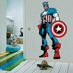Marvel - Marvel Comics Life Size Captain America Wall Sticker