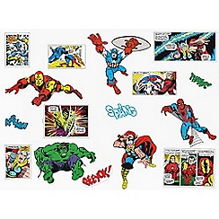Marvel - Multicoloured Marvel Comics Wall Stickers