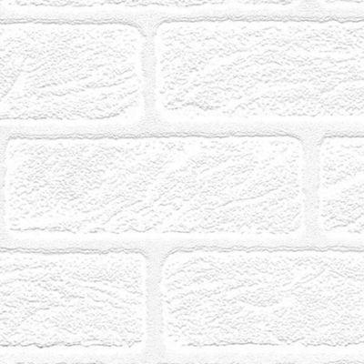 Superfresco Paintables   White Brick Wallpaper