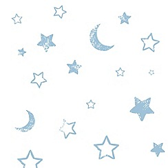 Disney - Blue Pooh Goodnight Vintage Wallpaper