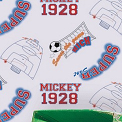 Disney - Red Mickey Football Wallpaper