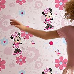 Disney - Pink Minnies Spring Walk Wallpaper