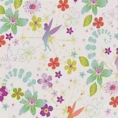 Disney - Multicoloured Tinkerbell Retro Wallpaper