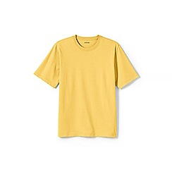 Lands' End - Yellow short sleeve super-t traditional fit