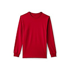 Lands' End - Red long sleeve super traditional fit t-shirt
